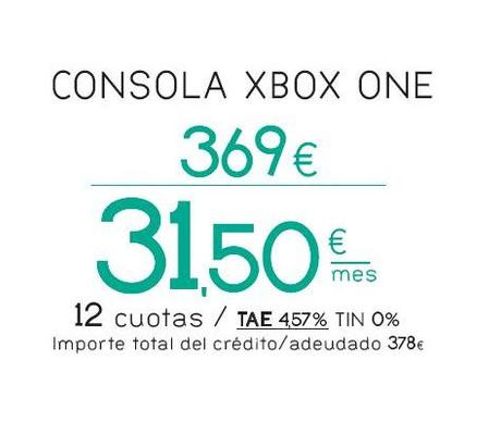 financiacion xbox one